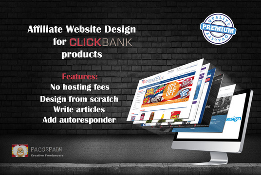 I will design from scratch an affiliate website with CLICKBANK products