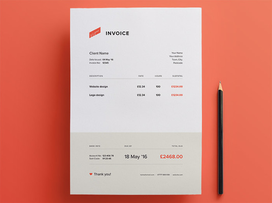 I will create Professional Invoices for you in 24 Hours