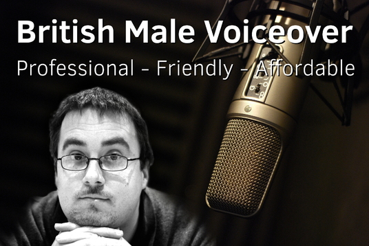 record a professional English male voiceover