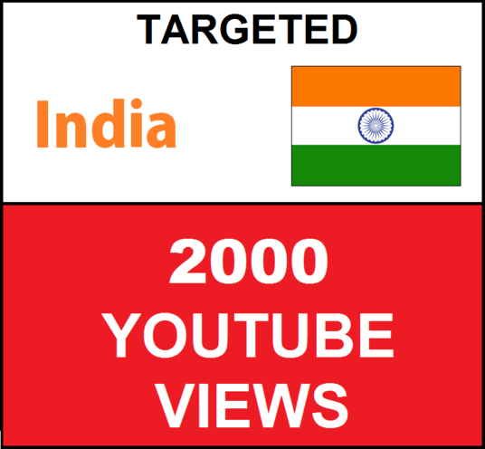 I will Added 2000 INDIA Targeted Youtube Views