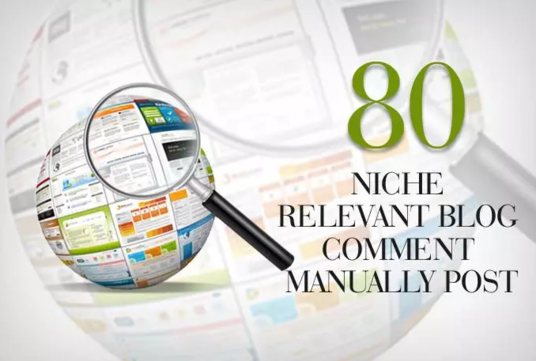 I will do 80 niche relevant blog comment quality work