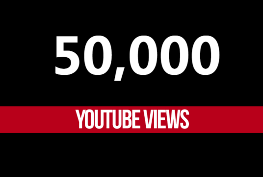 I will provide 50,000 youtube views and 300 likes