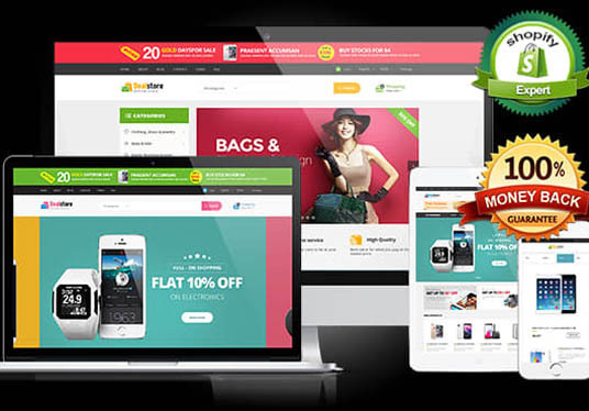 I will develop a responsive Shopify ecommerce website store