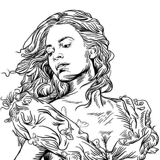 I will draw line art of your photo into my style