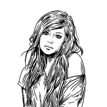 draw line art of your photo into my style
