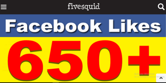 I will add 650 + permanent Facebook likes
