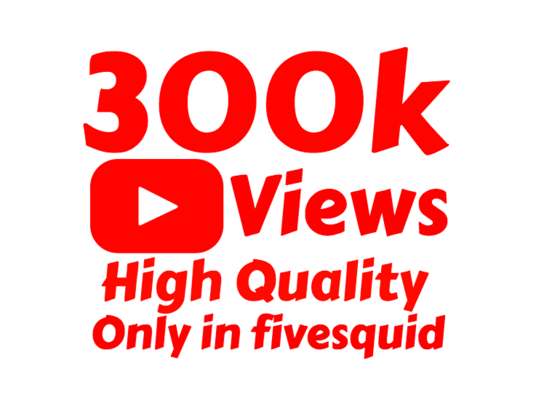 I will add 300,000+ High Quality Youtube Views and 1000 likes and 50 Custom Comments