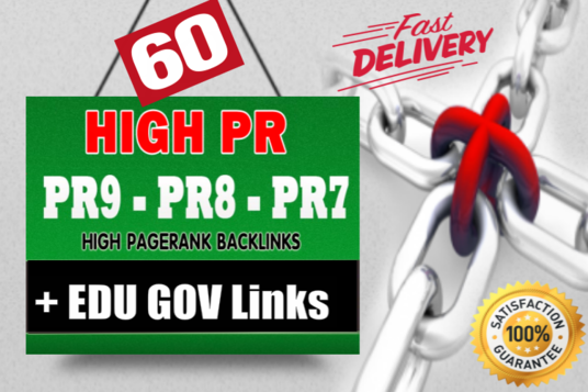 I will create 60 high PR backlinks to BOOST your Website RANKING