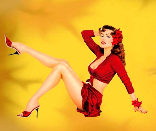 I will Draw you as a beautiful sexy pin up girl from your photo