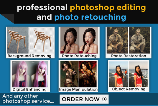 I will Professionally do any Photoshop editing work (image editing, photo retouching + MORE)