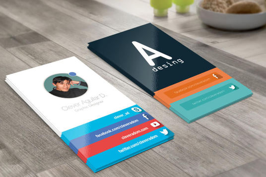 design professional, modern, double sided business card