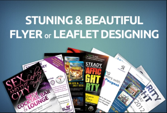 I will design a stunning and beautiful FLYER or LEAFLET in just 12 Hours
