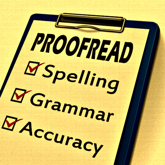 I will proofread and edit any document up to 2000 words