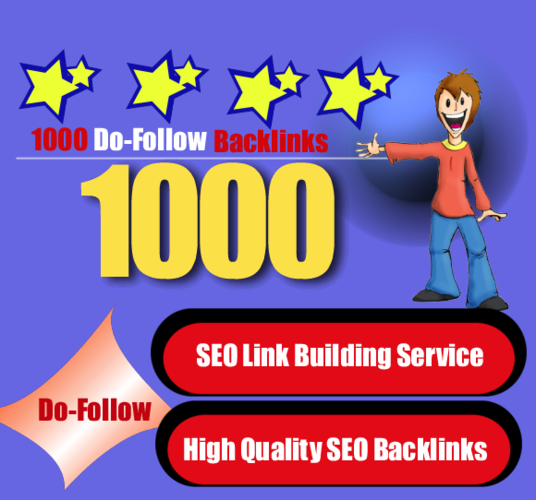 I will do 1000 Do-Follow Backlinks for any blog, website or video