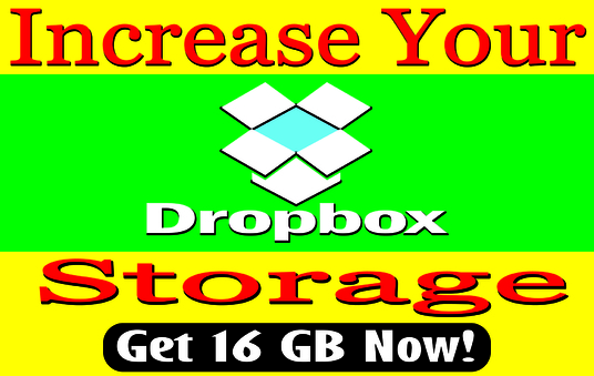 increase your dropbox storage up to 16GB for lifetime