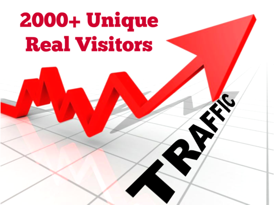 I will send 2000 unique and real VISITORS to your website to increase traffic