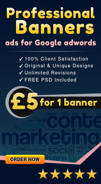 design a Professional Banner ad for Google adwords