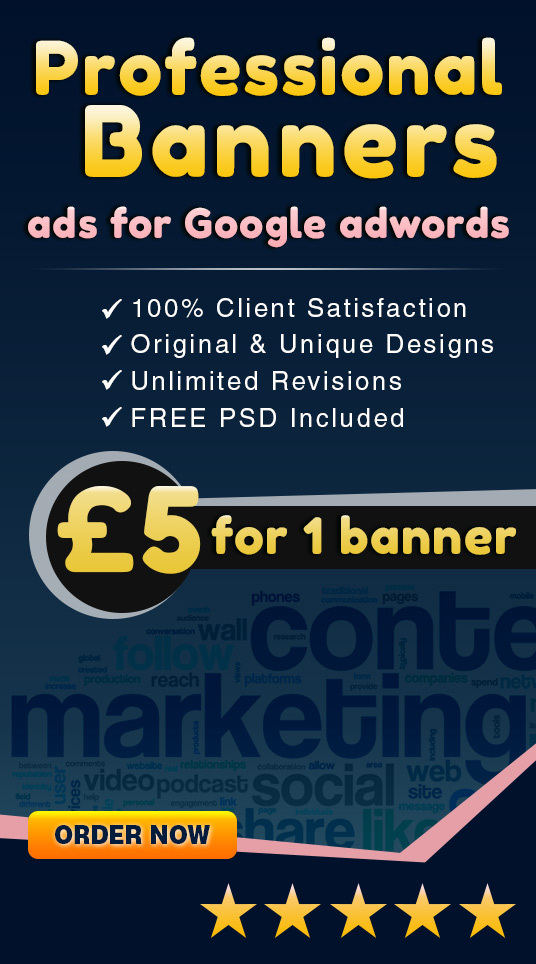 I will design a Professional Banner ad for Google adwords