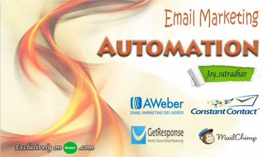 I will set automation for mailchimp aweber constant contact