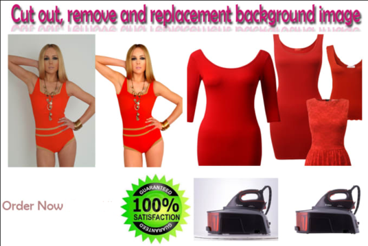 I will cut out, remove and replace background of images