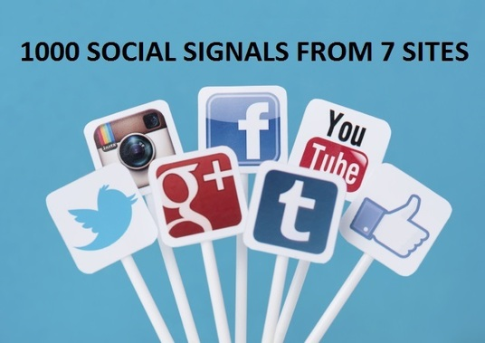 I will do 1000 SOCIAL SIGNALS SEO BACKLINK BOOKMARK SHARE TO 7 HIGH PR PAGE RANK SITE LIKE FACEBO