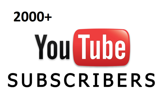 I will Add 2000 Real YouTube Subscribers