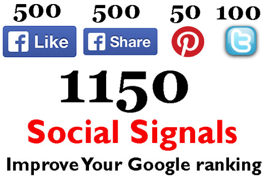 I will Build 1150 Social Signals