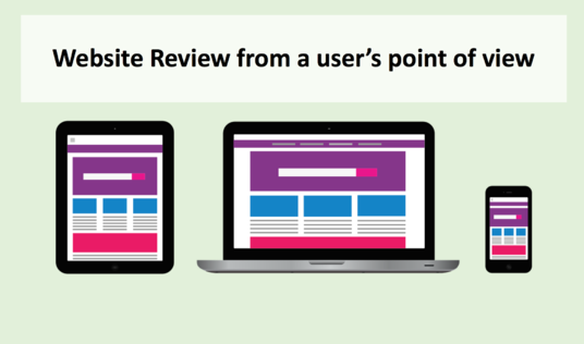 I will review your website from a users point of view