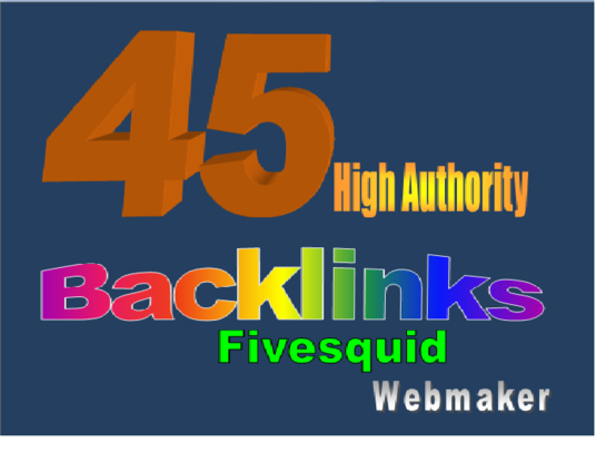 I will create 45 high authority backlinks