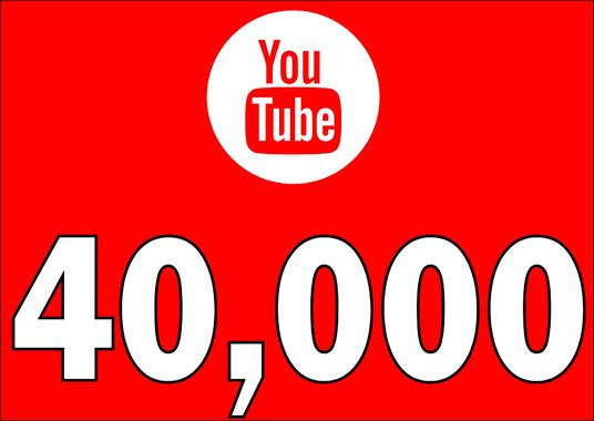 I will Add 40,000 YOUTUBE High Quality Views