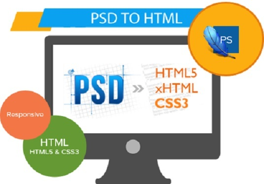 I will convert your psd file to html