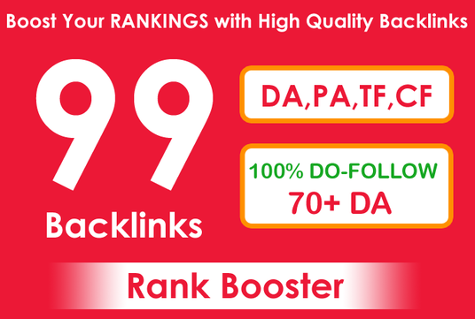 I will boost Your RANKINGS with High Quality DA 70+ Domains Backlinks