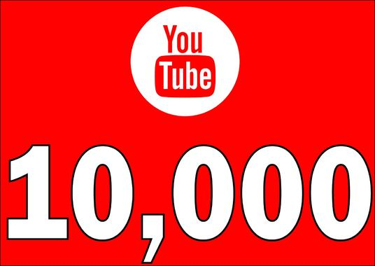 I will Add 10,000 YOUTUBE High Quality Views