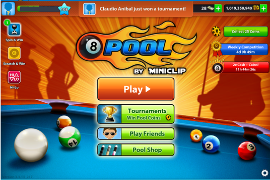 I will give you 8 ball pool  50 million coins