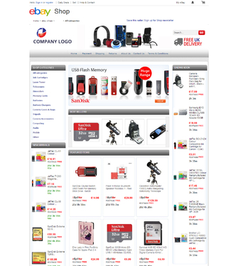 create amazing ebay store shop template and listing template for 20