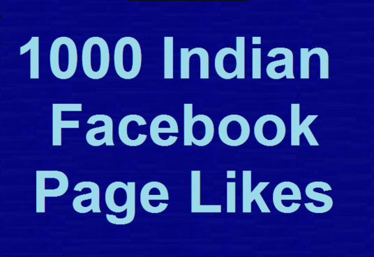 I will Give 1000 Indian Facebook Likes