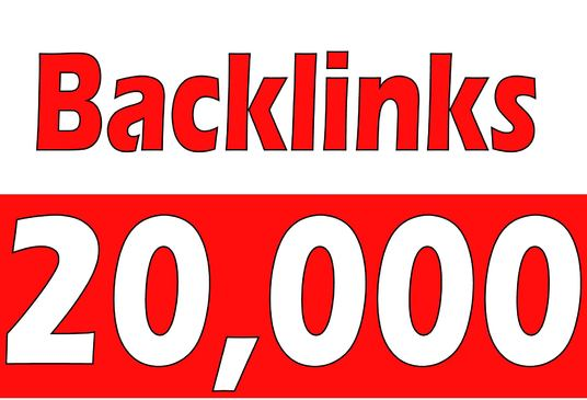 I will Create 20,000  Backlinks for your site