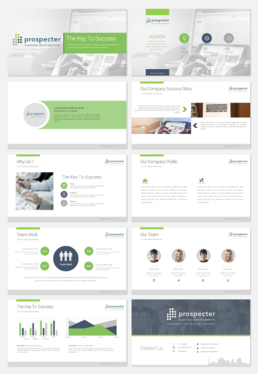 design a professional 10 slide powerpoint presentation, pitch deck, Presentation templates