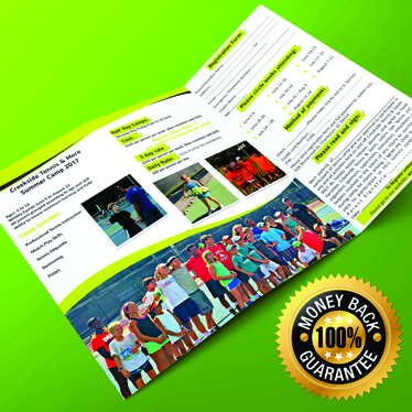 design double-sided trifold brochure