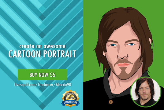 I will draw You A CARTOON Portrait From Your Photo