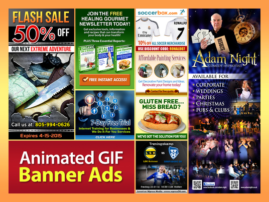 I will Create Attractive Animated GIF Banner Ads