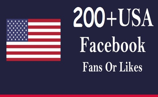 I will add Real and active 200+ USA Facebook Fan-page like