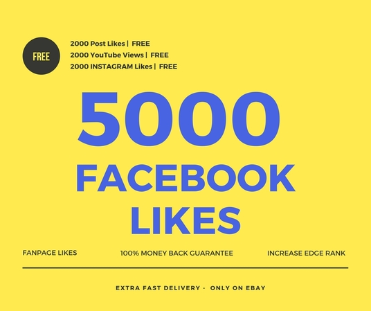 I will add 5000 facebook fan page likes
