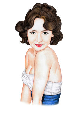 draw your portrait  in a stunning pin up style