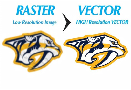 redraw any logo or image into vector