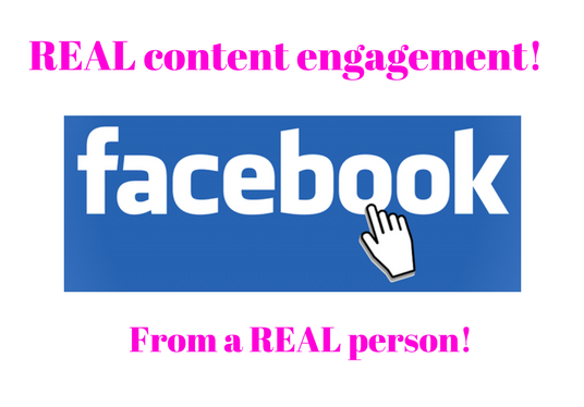 I will provide REAL Facebook page engagement for 7 days