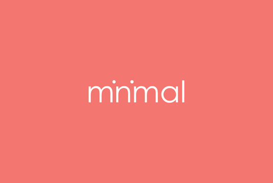 create MINIMAL logo Design