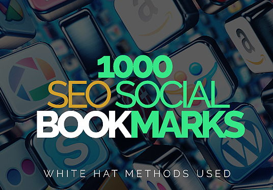 I will backlink 1000 SEO social bookmarks to your site