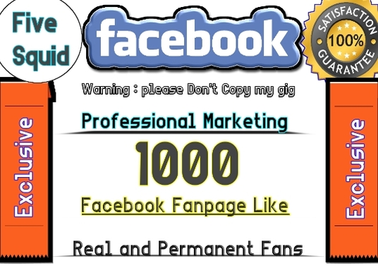 I will add real 1000 facebook fanpage likes