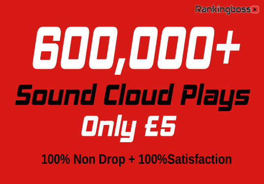 I will 600,000+ Non Drop Sound Cloud Plays